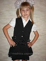 Школьный костюм двойка 001(черный) .детская школьная форма оптом, фото 1