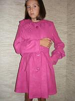 """Детская одежда оптом.  Пальто кашемировое  """"Роза"""" (розовое)."""