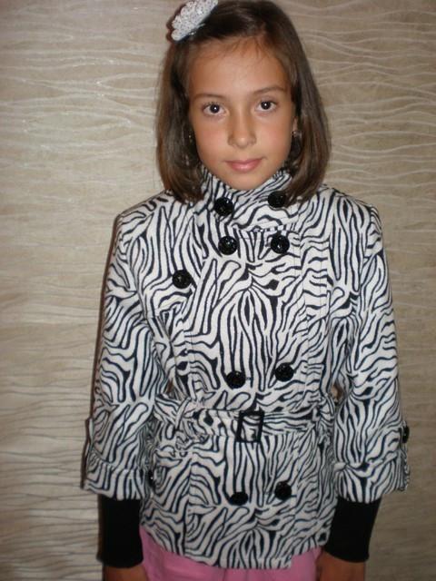 Пиджак кашемировый с ремешком (зебра).