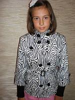 Пиджак кашемировый с ремешком (зебра)., фото 1