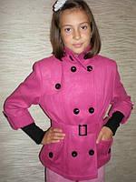 Пиджак кашемировый с ремешком (розовый).