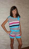 """Костюм """"Полоска"""" голубой . Детская одежда оптом. Коллекция лето 2013, фото 1"""