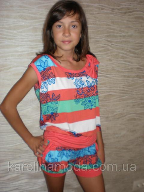 """Костюм """"Полоска"""" красная. Детская одежда оптом. Коллекция лето 2013"""