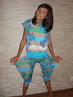 """Костюм """"Полоска капри"""" голубая. Детская одежда оптом. Коллекция лето 2013, фото 1"""