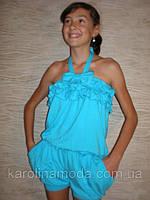 """Костюм """"Бантик"""" голубой . Детская одежда оптом. Коллекция лето 2013, фото 1"""