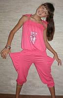 """Комбинезон капри """"Зайчик"""" 3001 (розовые). Детская одежда оптом"""