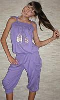 """Детская одежда оптом. Комбинезон капри """"Зайчик"""" 3001 (фиолетовые). Коллекция лето 2013."""
