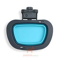 Collapsible Kennel Bowl-Large Миска складная с креплением на клетку большая Dexas (голубой)