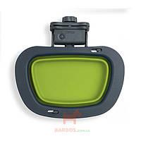 Collapsible Kennel Bowl-Large Миска складная с креплением на клетку большая Dexas (зеленый)