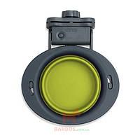 Collapsible Kennel Bowl-Small Миска складная с креплением на клетку малая Dexas (зеленый)