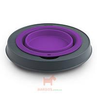 Single Elevated Feeder-Small Миска одинарная на складывающейся подставке малая Dexas (фиолетовый)