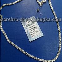 Цепочка серебряная плетение ручеек 2060 длина 65см