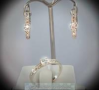 Ювелирный набор украшений из серебра 010 с фианитами