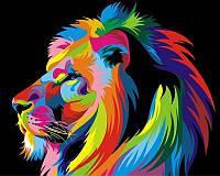 Картины по номерам 40×50 см Король Лев Художник Ваю Ромдони