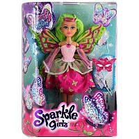 Волшебная фея-бабочка Кейтлин в розово-красном платье (25 см)