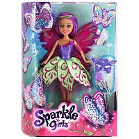 Волшебная фея-бабочка Джессика в фиолетово-зеленом платье (25 см)
