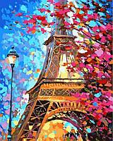 Картины по номерам 40×50 см Весенний Париж