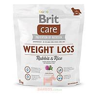 Care Weight Loss Rabbit & Rice для собак с лишним весом (Брит) Brit (3 кг)