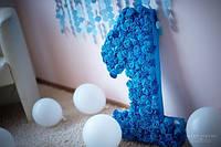 Декорированная цифра ко дню рождения или годовщине
