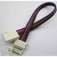 Коннектор для светодиодных лент OEM №9 10mm RGB 2joints wire (провод-2зажима), фото 1