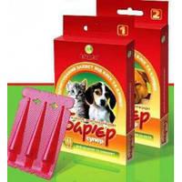 Барьер Супер (1) капли на холку от блох и клещей для щенков и котят,1пипетка