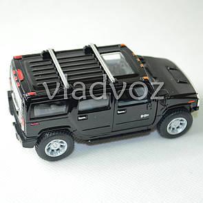 Машинка Hummer H2 SUV 1:38 метал чёрная, фото 2