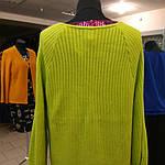 Женская вязаная кофта кардиган болеро накидка зеленая размеры 50,52,54, фото 3