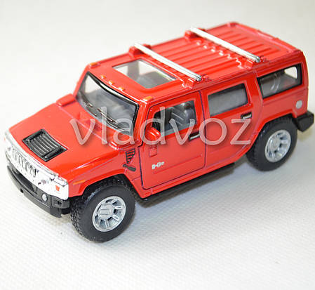 Машинка Hummer H2 SUV 1:38 метал красная, фото 2