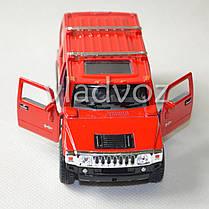 Машинка Hummer H2 SUV 1:38 метал красная, фото 3