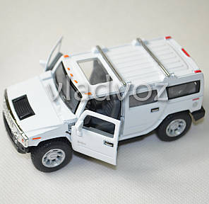 Машинка Hummer H2 SUV 1:38 метал белая, фото 2