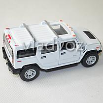 Машинка Hummer H2 SUV 1:38 метал белая, фото 3