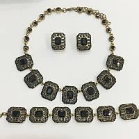Комплект бижутерии с кристаллами 25105