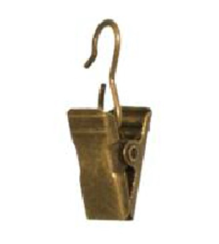 Жабка металлическая для кольца, антик