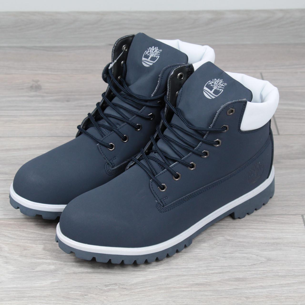 Ботинки Мужские зимние Timberland синие 67a0ce7c3b74a