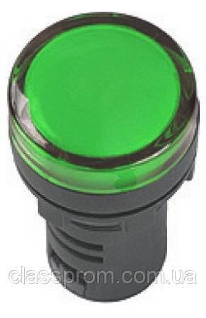 Лампа AD-22DS LED-матрица d22мм зеленый 12В AC/DC IEK
