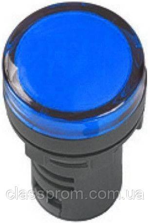 Лампа AD-22DS LED-матрица d22мм синий 12В AC/DC ИЭК