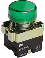Индикатор LAY5-BU63 зеленого цвета d22мм IEK