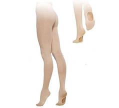 Колготки для танцев и балета с отверстием на стопе телесные CO-3587