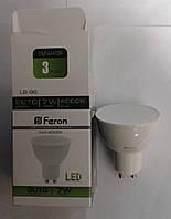 Светодиодная лампа Feron LB196 GU10 7W 4000К (белый нейтральный), фото 1