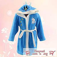 Махровые халаты для девочки и мальчика от 5 до 7 лет Турция (4893-3)
