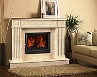 Портал для камина (облицовка) Оскар из натурального мрамора Bianco Carrara, Crema Marfil