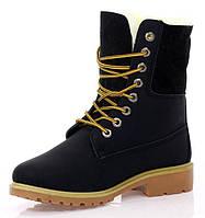 Ботинки женские,черного цвета на шнурках размеры 36-38, фото 1