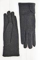 Качественные женские перчатки серого цвета