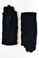 Теплые зимние женские перчатки с вязкой