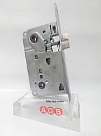 Замок межкомнатный WC мат.хром  AGB BO1013.50.34