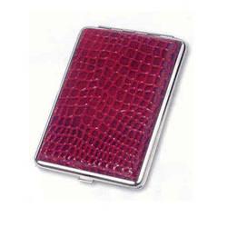 Портсигар красная кожа металл стильный подарок мужчине купить в Харькове