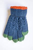 Красивые теплые детские перчатки