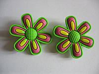 Джибитсы (Jibbitz) цветок зел/роз