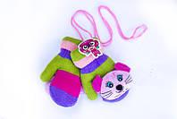 Веселые детские варежки с мягкой игрушкой
