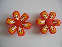 Джибитсы (Jibbitz) цветок оранж/оранж